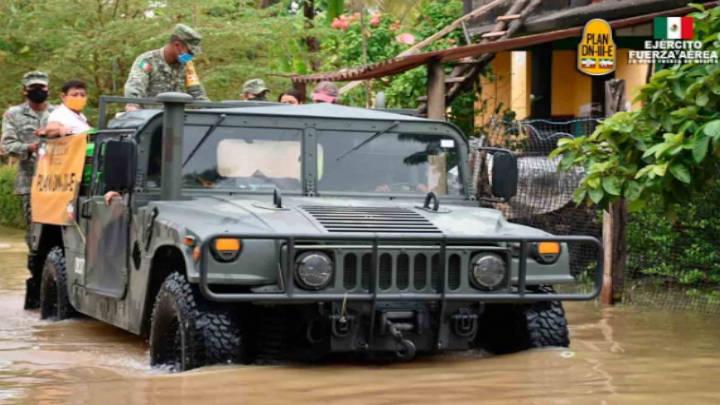 La acción militar continua presente con su plan DN-III-E en Tabasco y Chiapas