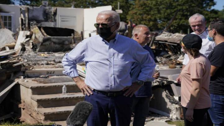 """Joe Biden en Nueva Jersey """"no hay más tiempo"""" contra el cambio climático"""
