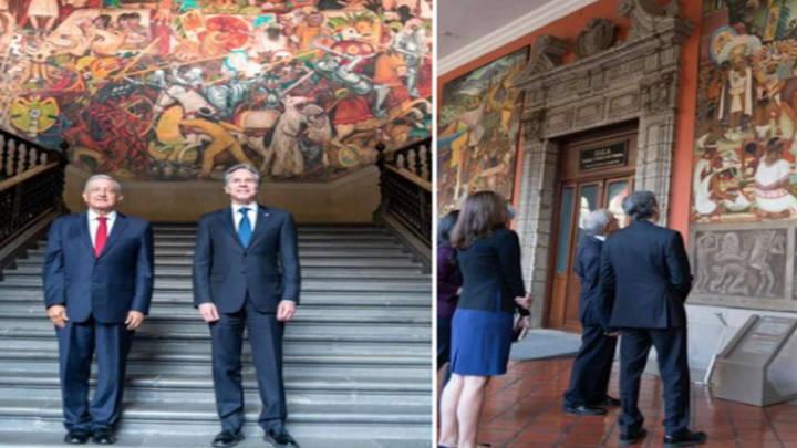 El arte histórico de México impresiona a Antony Blinken